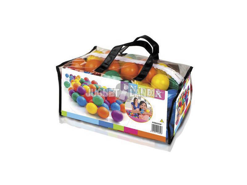 Embalagem 100 Bolas Multicolor de 6,5 cm. Intex 49602