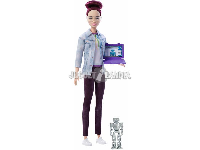 Barbie Quiero Ser Ingeniera Robótica Mattel FRM08