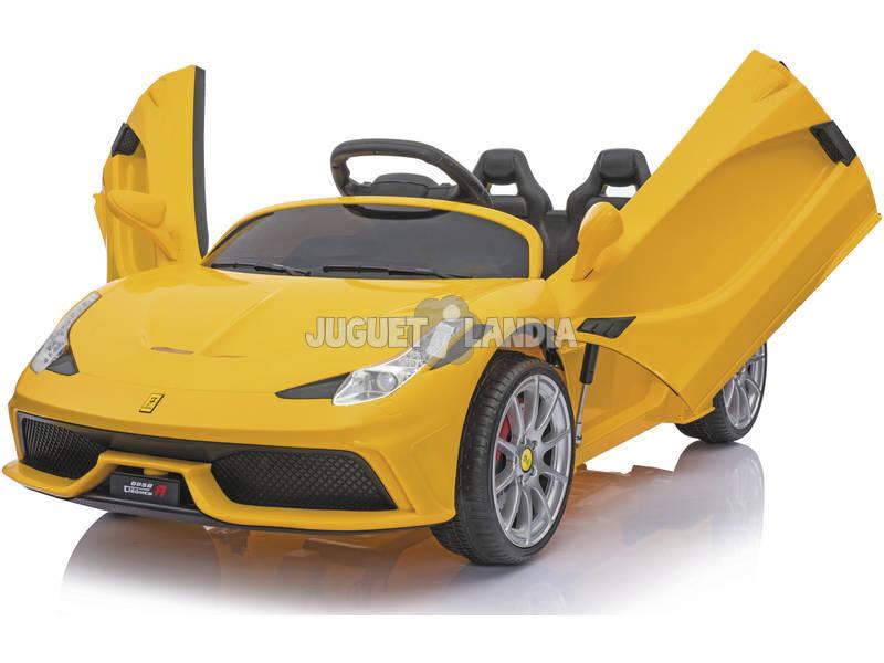 Auto Sportiva Gialla Telecomandata 6v