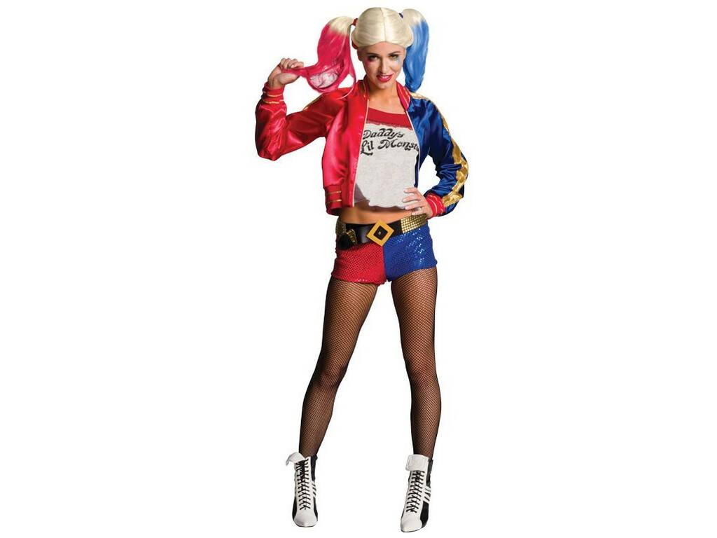 Disfarce de Mulher Harley Quinn Tamanho S Rubies 820118-S
