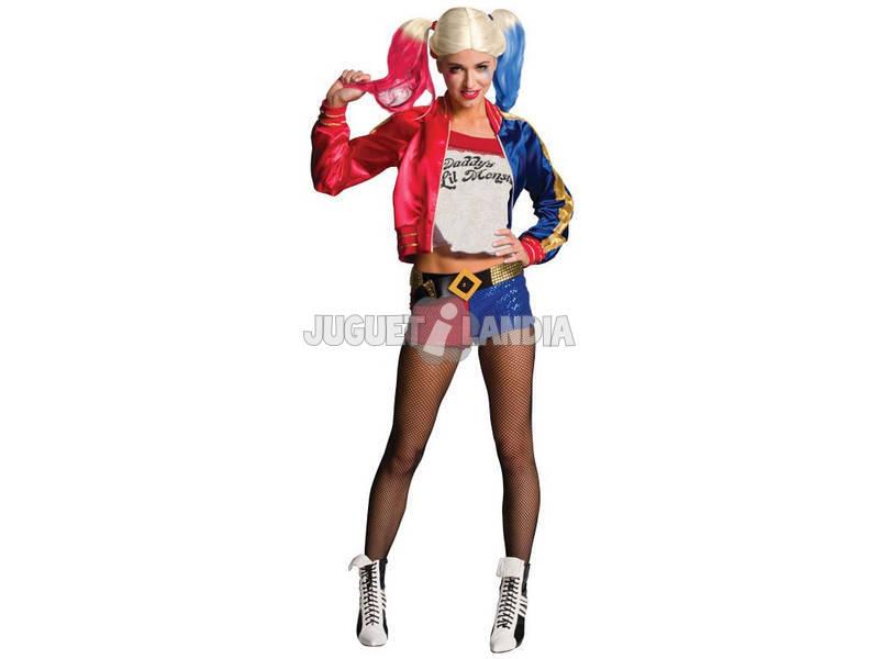 Disfarce de Mulher Harley Quinn Tamanho M Rubies 820118-M