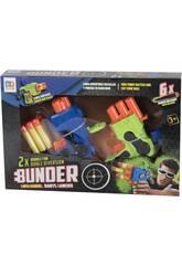 Lanzadardos Bunder Set 2 Lanzadores