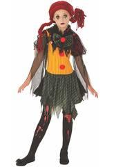 imagen Disfraz Niña Zombie Clown Talla M Rubies 641127-M
