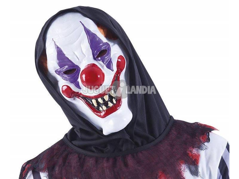 Máscara de palhaço louco adulto com capuz Rubies S5136