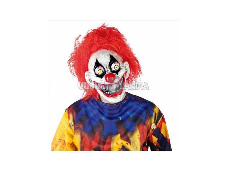 Máscara de palhaço louco com olhos móveis Rabies S5144