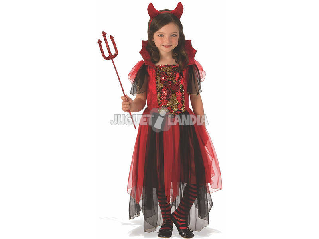 Disfraz Niña Diablesa Mágica Talla M Rubies 641102-M