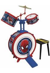 Spiderman Batería 3 Elementos Con Banqueta Reig 555