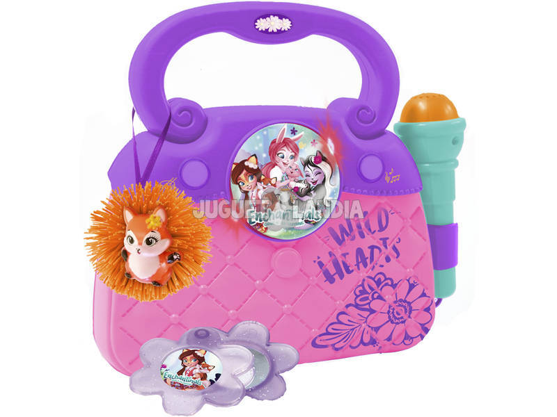 Enchantimals Borsa Con Microfono, Luci, Ritmo e Connessione MP3 Reig 4459