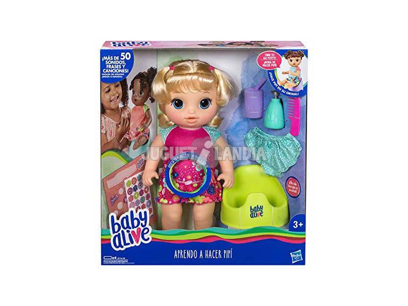 Muñeca Baby Alive Aprendo a Hacer Pipi Hasbro E0609