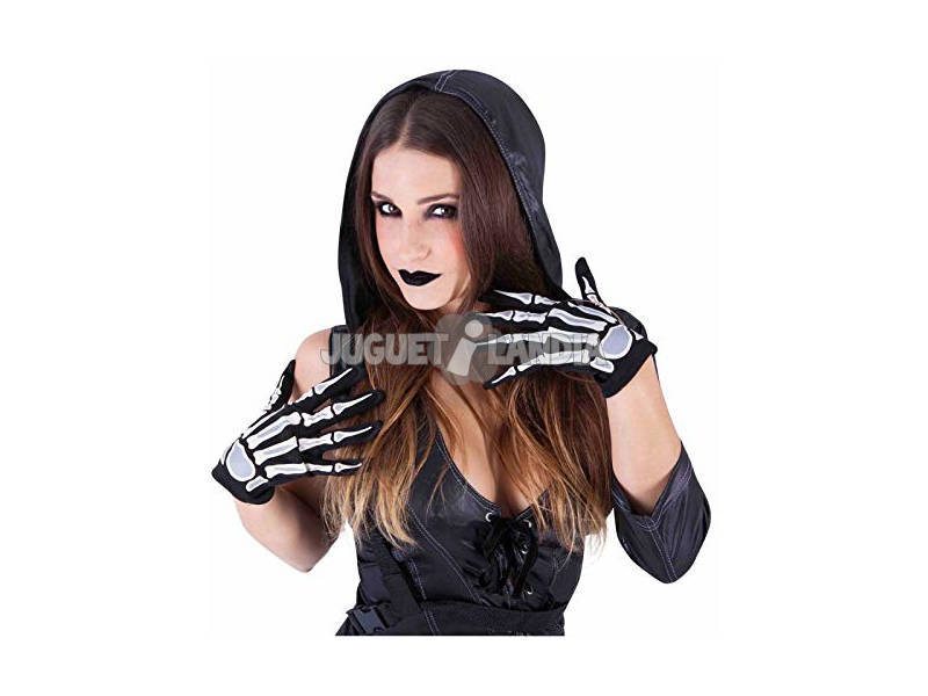 Luvas Adulto Esqueleto Glow In Dark Rubies S7710