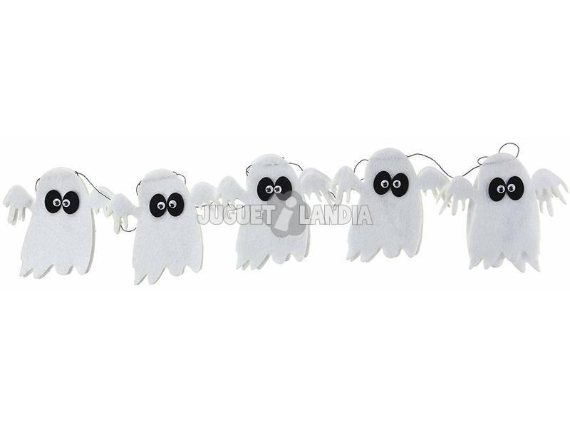 Guirlanda Fantasma Feltro Com Os Olhos Rubies S4339