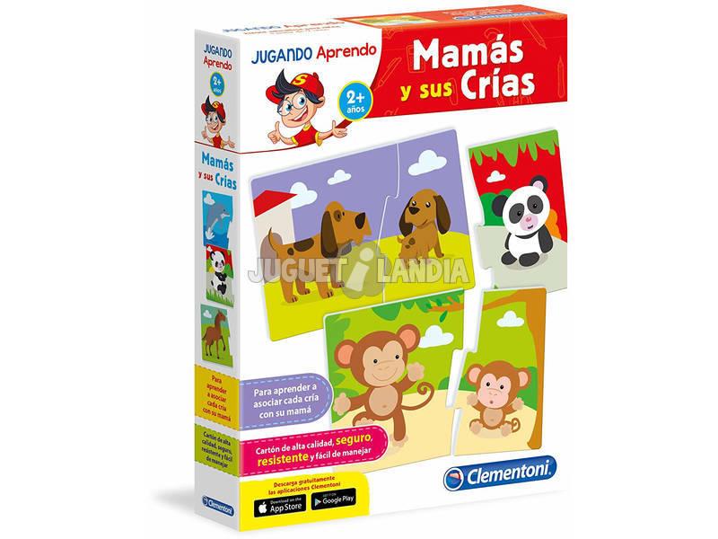 A brincar aprendo as mamãs e crias Clementoni 65593