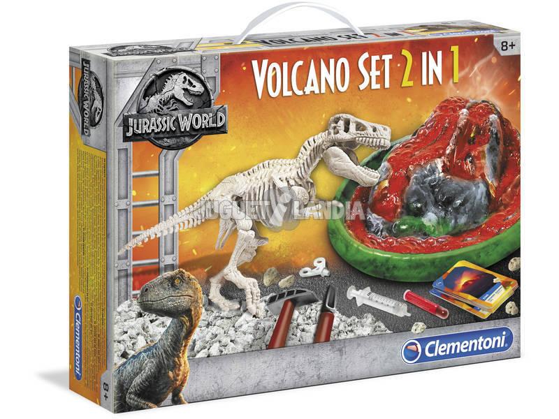 Jurassic World Arqueojugando T-Rex y Volcán Clementoni 19064