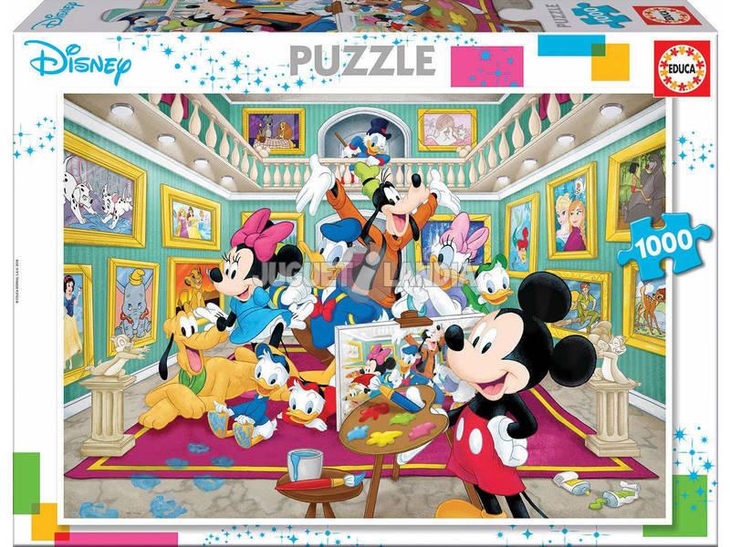 Quebra-cabeça 1000 Galeria De Arte De Mickey Educa 17695