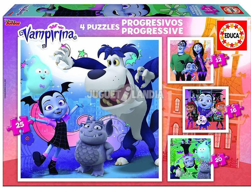 Puzzles Progresivos 12-16-20-25 Vampirina Educa 17941