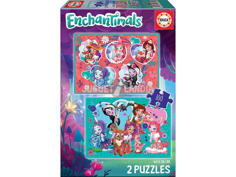 Puzzle 2x100 Enchantimals Educa 17934