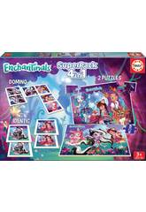 Superpack Enchantimals 4 em 1 Educa 17935