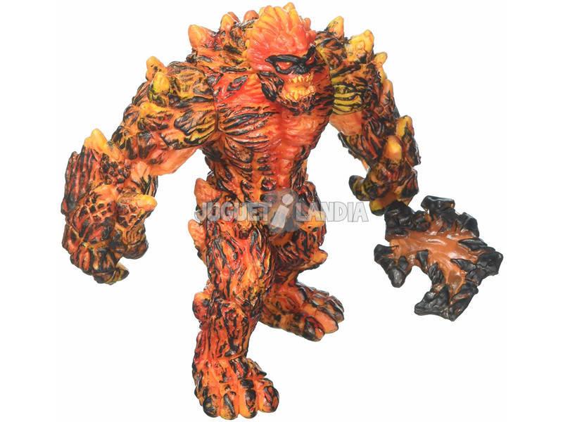 Eldrador Creatures Gólem di Lava con Arma Schleich 42447