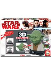 Star Wars 3d Sculpture Puzzle Yoda Educa 17801