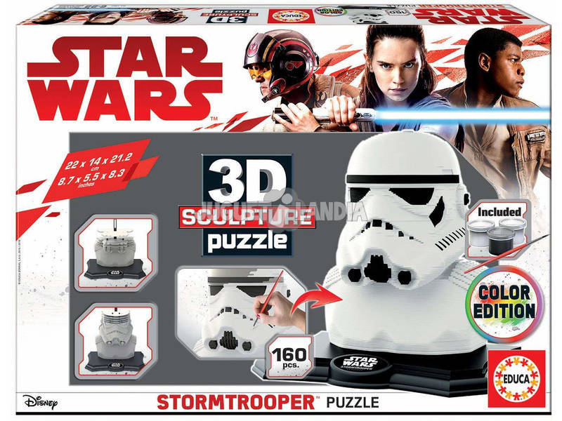 Star Wars Stormtrooper 3D Sculpture Puzzle Educa 17803