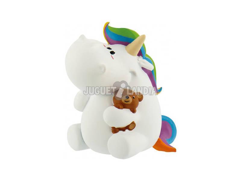 Unicornio Regordete con Osito Comansi 44384