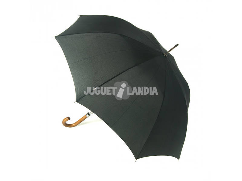 Paraguas Adulto Automatico Agarradera Madera Pongee 102 cm. 8 Varillas Windproof