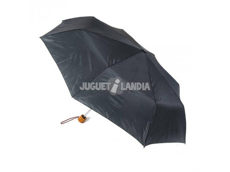 Guarda-chuva de Adulto Dobrável Manual Com Cabo em Madeira Pongee 54 cm. 8 Varas