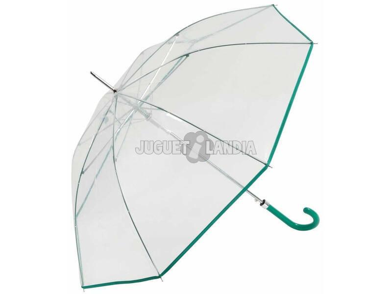 Guarda-chuva de Senhora Automático Transparente 87 cm. 8 Varetas Windproof