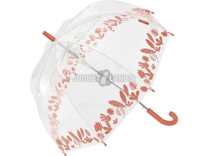 Paraguas Bisetti Infantil Automático Selva Transparente Cúpula 67 cm. 8 Varillas