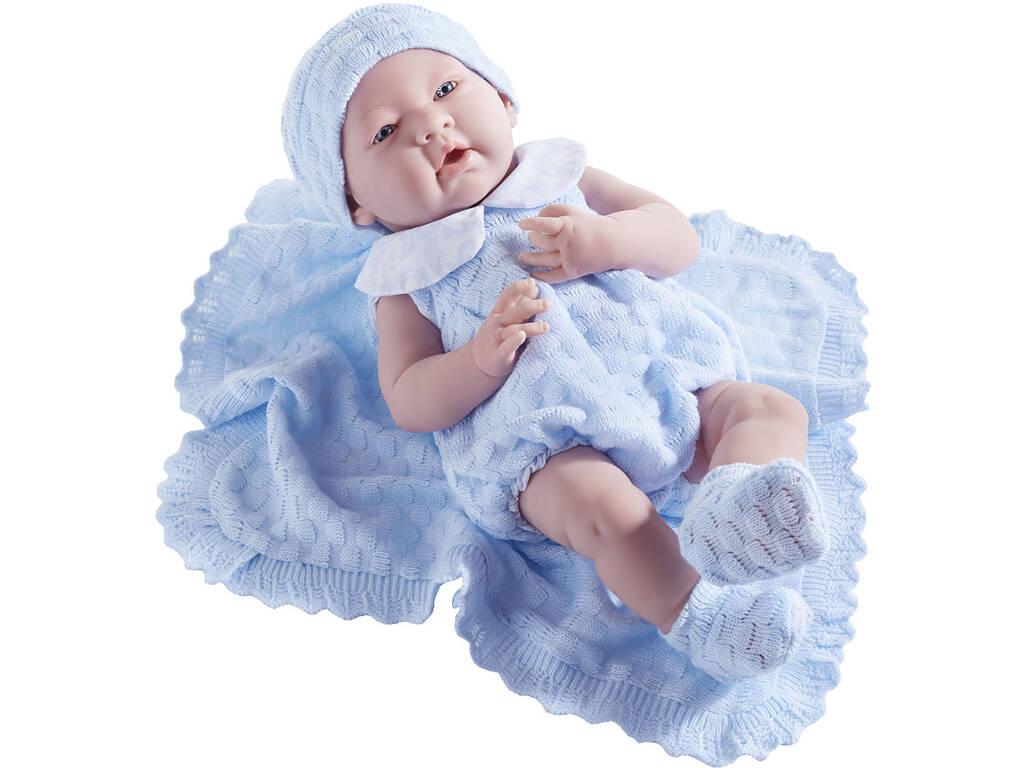 Muñeco Recién Nacido 38 cm. Azul JC Toys 18054