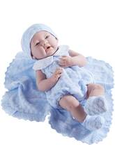 Poupée nouveau-né 38 cm. JC Toys bleu 18054