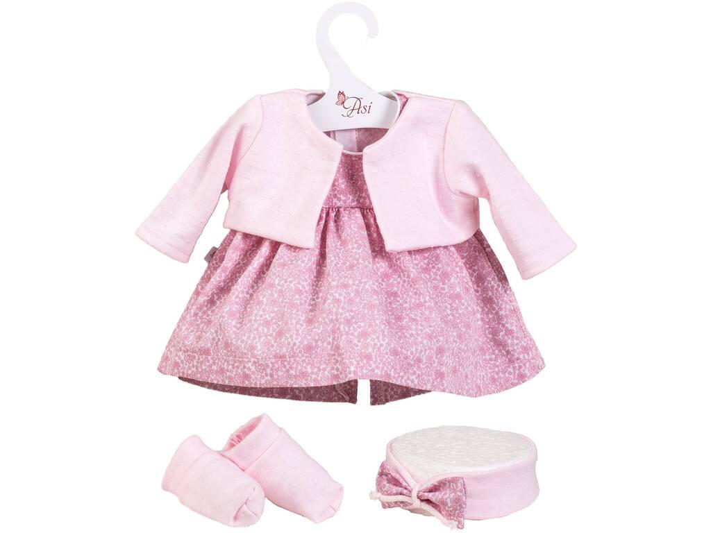 Vestito Bambola 43 cm Rosas Giacchetta Plumeti Asivil 3364290