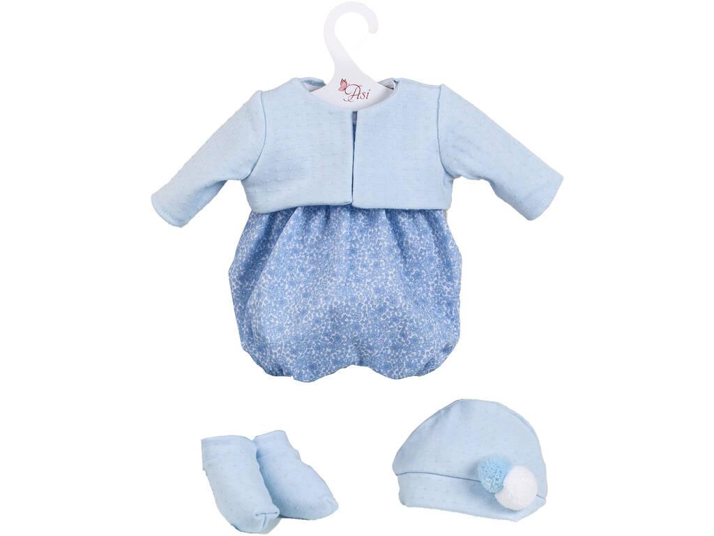Vestido Muñeca 43 cm. Azul Flores Asivil 3364291