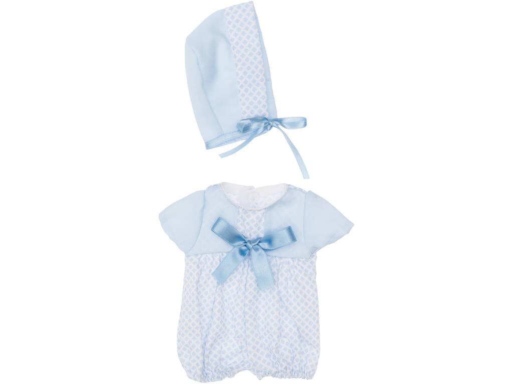 Vestito Bambola 36 cm. Azzurro con Piccoli Rombi Asivil 3403531