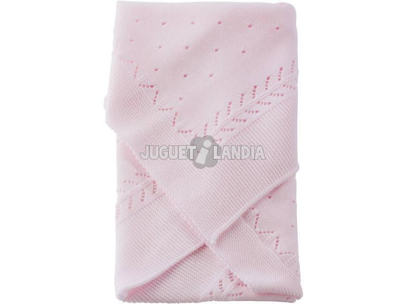 Copertina Bambola Lana Spinato Rosa 60x70 cm Asivil 3994013