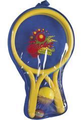 Kit de 2 Raquettes avec Balle 6.5 cm et Volant Badmintong 8 cm