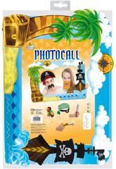 Cadre photocall pirates avec d'accessoires globolandia 5338