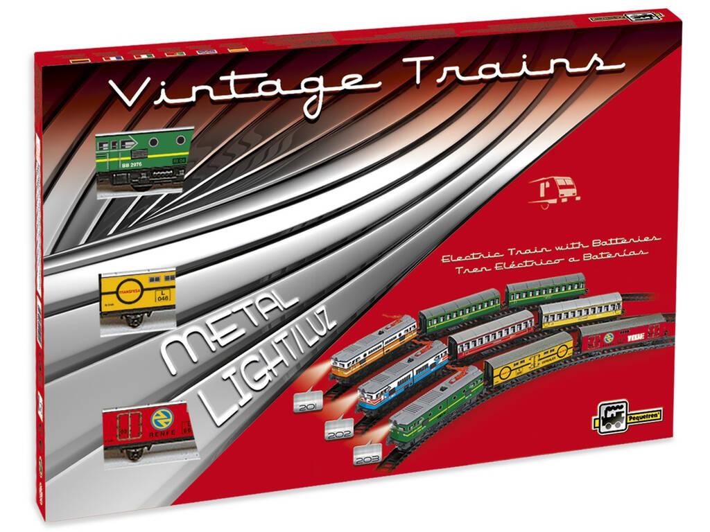 Tren Eléctrico Mercancías Locomotora Verde Pequetren 203