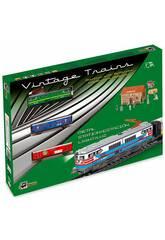 imagen Tren Eléctrico Mercancías con Locomotora Verde y Estación Pequetren 303