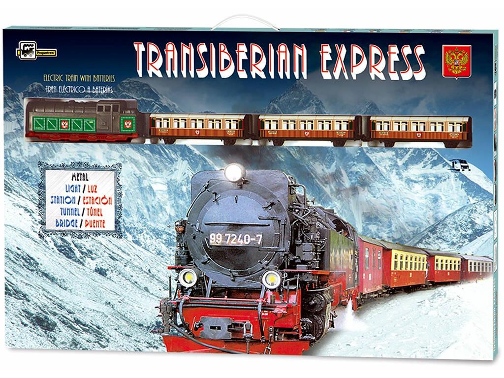 Comboio Elétrico Mercadorias Transiberiano Metálico Pequetren 450