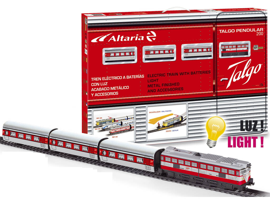 Treno Elettrico Articolato con Locomotiva Rossa Pequetren 505
