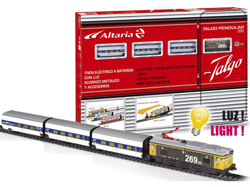 Train Électrique Talgo Pendular 200 à Locomotive Jaune de Pequetren 506