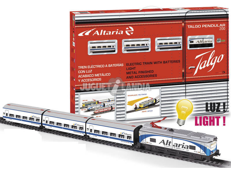 Comboio Elétrico Altaria com Locomotora Branca Pequetren 507
