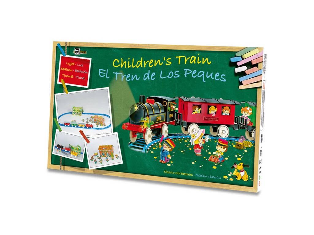 Tren Eléctrico Infantil con Luz, Estación y Túnel Pequetren 2001