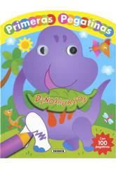 imagen Dinosaurios con Ojos y Pegatinas Susaeta S3364