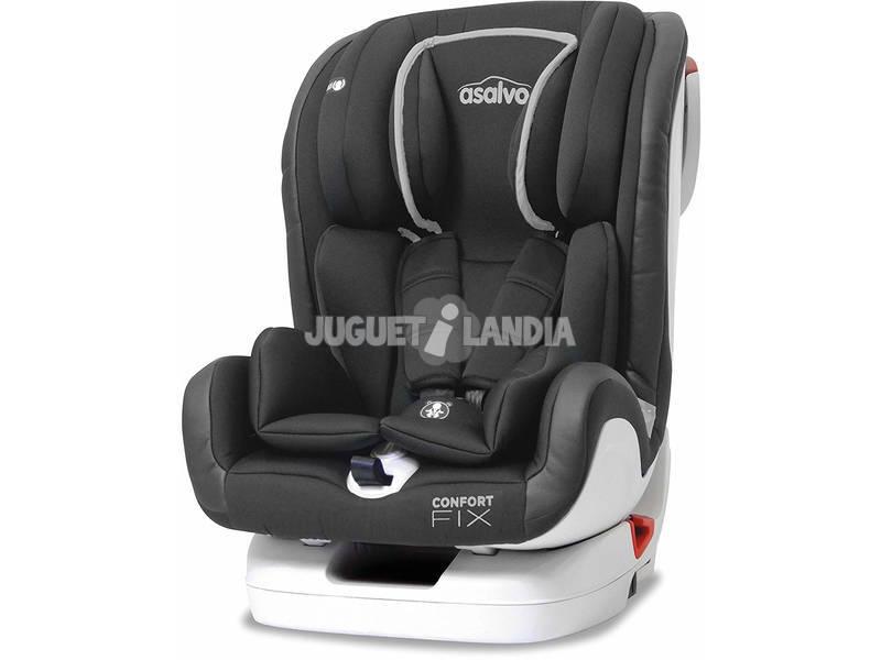 Silla De Auto Grupo 0-1-2-3 (9-36 kg) Confort Fix Gris Asalvo 15082