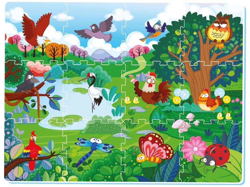 Tappetino Bosco Puzzle Eva 12 pezzi