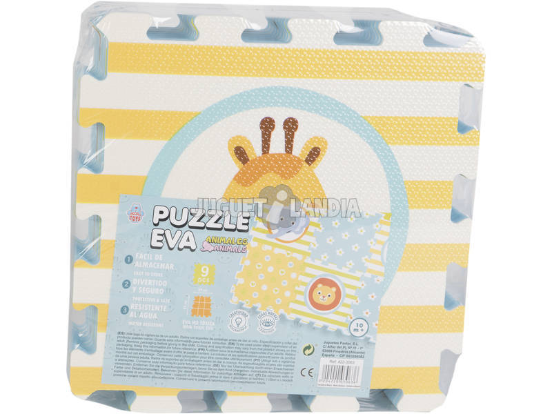 Puzzle Eva 9 Piezas Animales