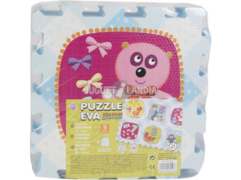 Puzzle Eva 9 Peças Animais e Números