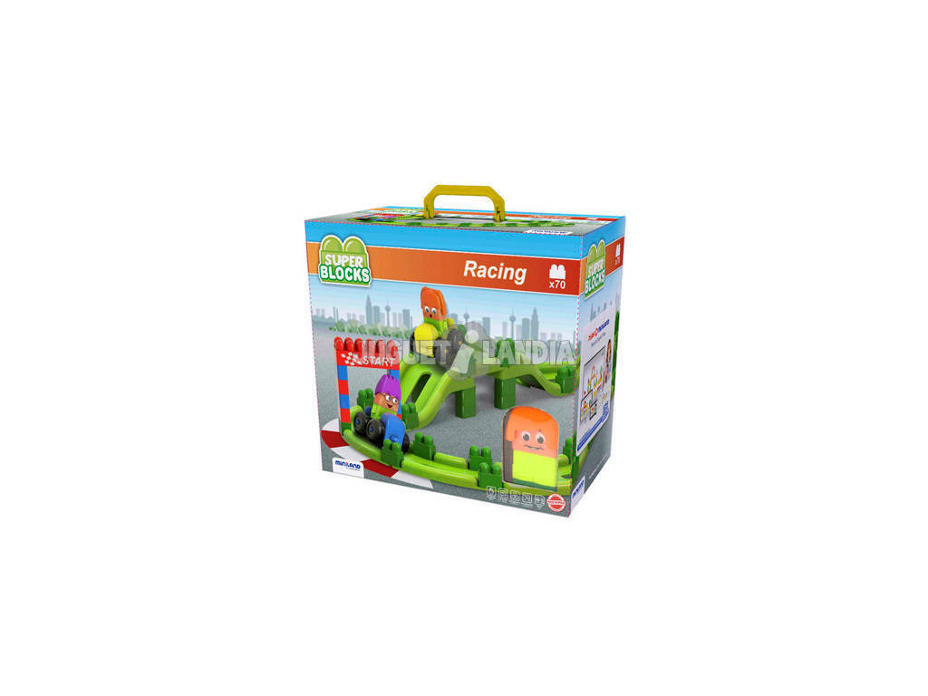 Super Blocks Racing 70 Piezas Miniland 32345